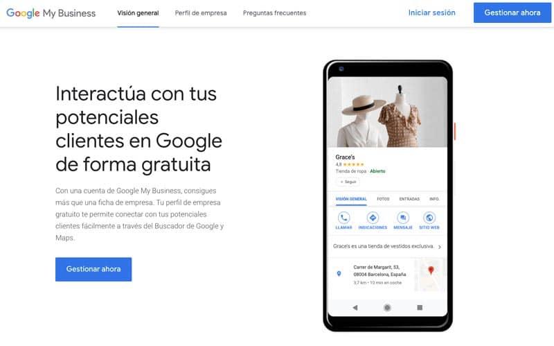 Cómo crear una ficha de Google My Business para negocios online